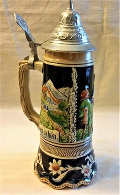 Your place to buy and sell all things handmade German Beer Steins, Beer Brewing, Interesting Stuff, Craft Beer, Holiday Recipes, Aesthetics, Eggs, Pottery, Memories