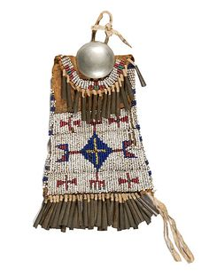 Beaded Bag, Native American;  (no info).........(Google Image Result for http://www.cowanauctions.com/itemImages/78062.jpg)