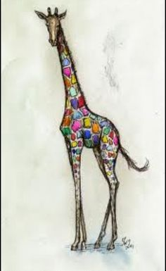 Giraffe with pizazz