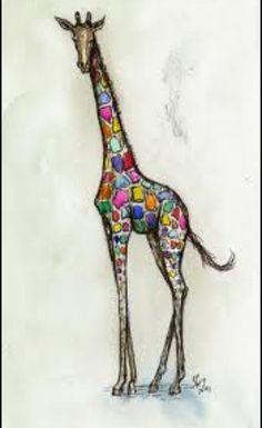 Giraffe with pizazz