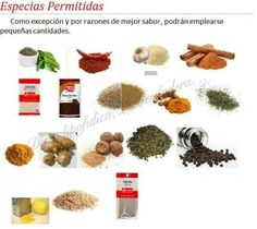 Especias permitidas Dog Food Recipes, Fitness, Spice, Healthy Life, Cook, Diets, Blue Prints, Style, Dog Recipes