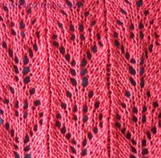 Sprig 2 knitting stitches