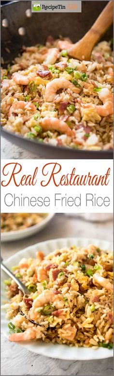 Chinese Fried Rice with Shrimp / Prawns Chinese Fried Rice - A recipe for those who want Chinese Fried Rice that really does taste like what you get at restaurants. Shrimp Fried Rice, Shrimp Dishes, Rice Dishes, Risotto Dishes, Main Dishes, Seafood Recipes, Dinner Recipes, Cooking Recipes, Asian Recipes