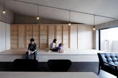 コアガリ(勾配天井の家) - リビングダイニング事例|SUVACO(スバコ)