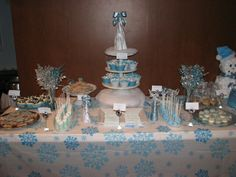 Winter Wonderland Candy buffet.