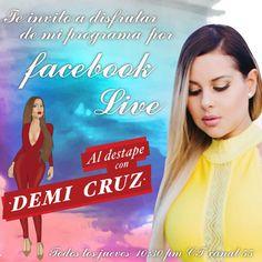 Sintoniza cada jueves Facebook Live facebook.com/aldestapecondemicruz #Miami #RepúblicaDominicana 11:30 pm CT ¡Un sin fin de sorpresas esperan por ti! #HoustonTx #DemiCruz #Emoción #Diversión