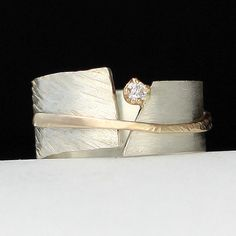 Between You and Me: Dagmara Costello: Gold, Silver & Stone Wedding Band | Artful Home