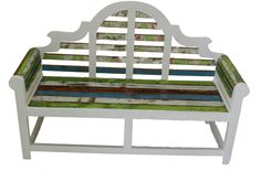 Bench made from an old boat! By Recycled Boat Furniture