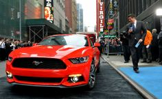 2015 Ford Mustang unveiled exclusively in New York City First Mustang, 2015 Ford Mustang, City Car, Ford Fusion, Ford Transit, Ford Explorer, Car Ford, Ford Focus, New York City