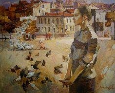 Worth mentioning that Victoria is married to the Russian Artist Denis Sarazhin who is her partner in her art work. Time Painting, Figure Painting, Trevor Brown, Statues, Figurative Kunst, Ukrainian Art, Art Of Man, Best Portraits, Art Academy