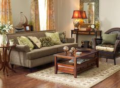Pier 1: Traditional comforts: you won't have to redo with every passing trend. The classic look is a timeless look.