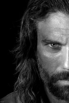 Anson Mount as Cullen Bohannon on Hell On Wheels -- and who got to decide that these eyes wouldn't be good behind a Batman mask?