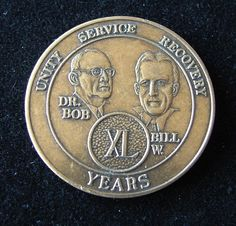 40 Year Alcoholics Anonymous Sobriety Medallion Anniversary Coin | eBay