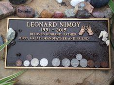 "Leonard Nimoy-Mr Spock from the original Star Trek tv shows. ""Live Long and Prosper""."