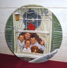 Norman Rockwell Christmas Plate  Collectibles  by MuzettasWaltz, $24.00