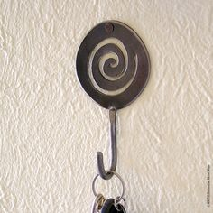 Spiral Handmade Metal Wall Hook by WATTO by WATTOonline on Etsy