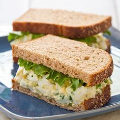 Creamy Egg Salad, the perfect lunch-time sandwich.