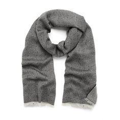 Tamara Scarf (€195) ❤ liked on Polyvore featuring accessories, scarves, grey scarves, grey shawl, gray scarves, patterned scarves and wrap shawl