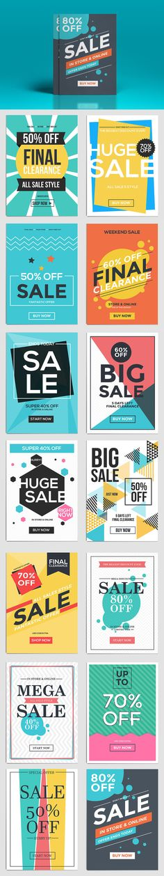 Flat Design Sale Flyer Template Vector AI, EPS
