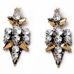 BeOL s Champagne Color Vintage Crystal Drop Earrings Punk Earrings For Women * You can find out more details at the link of the image.