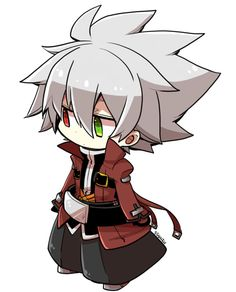 ragna_the_bloodedge red_jacket silver_hair