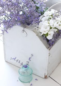 mywebroom.com lavender shaby chic bedroom flower box