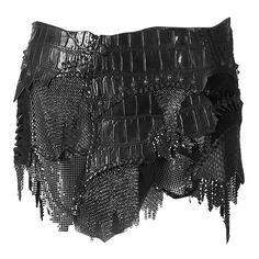Balmain Black Patchwork Mini Leather Skirt ❤ liked on Polyvore featuring skirts, mini skirts, bottoms, saias, black, real leather skirt, balmain, leather mini skirt, balmain skirt and mini skirt
