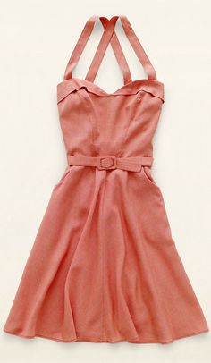 Retro belted dress
