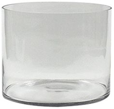 WGV Clear Cylinder Glass Vase, 10 by 8-Inch