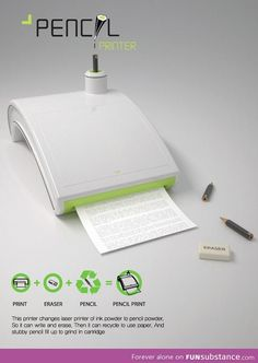 A printer that uses pencil to print your documents