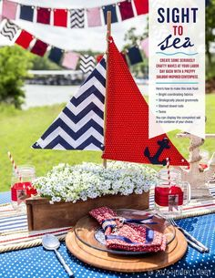 Ahoy, mateys! Memorial Day is the perfect holiday to whip out the sailboat decor and call all hands on deck for the party of the summer.