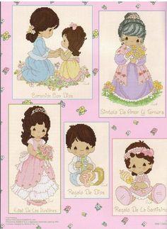 PM78 Mi Familia - Precious Moments Cross Stitch Pattern