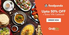 "Enjoy ""No Cooking"" Saturday With #Foodpanda. Get Upto 50% Off + Extra 10% #Cashback via #Paytm."