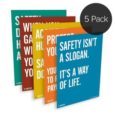 Creative Safety Supply - 5-Pack: Safety Quote Series Posters, $99.95 (http://www.creativesafetysupply.com/5-pack-safety-quote-series-posters/)