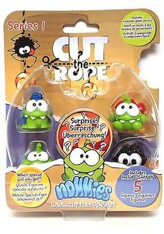Cut the Rope Nommies Collectables Series 1 - 5 Pack - Pack F - 27225 - Brand New