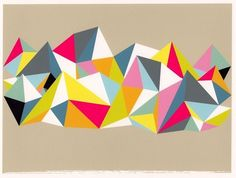 Abstract Art Geometric Print Wall Art Triangle by SwellPapel