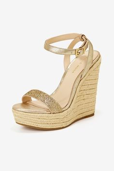 This ghillie-style lace-up heel is designed with tassel accents, a hidden back zip and a cork wrapped wedge. Gold Wedges, Lace Up Wedges, Lace Up Heels, Black Wedges, Gold Wedge Heels, Black Wedge Shoes, Wedge Sandals, Stylish Shoes For Women, Shoes