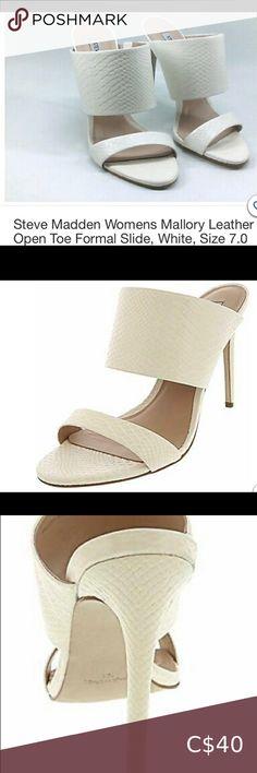 Peep Toe Mules, Heeled Mules, Aldo Purses, Fitted Black Dress, Open Toe High Heels, Blush And Gold, Black Platform, Shoe Size Chart, Madden Shoes