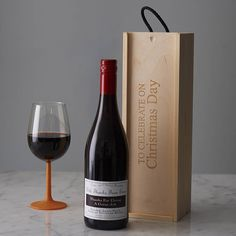 personlised christmas day wine box by intervino   notonthehighstreet.com