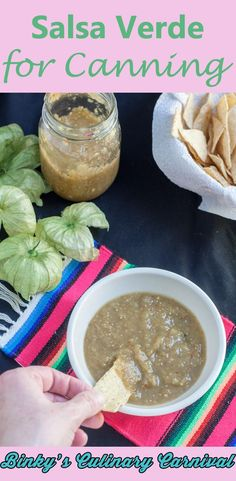 Canning Salsa Verde couldn't be easier and who doesn't like home made salsa?
