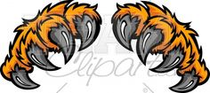 Tiger Claws Clipart Cartoon Image.