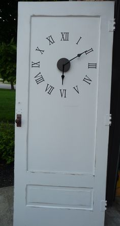 put a clock on {any} door