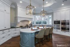 Colorful countertops complement a kitchen design