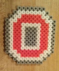 Ohio State melty beads