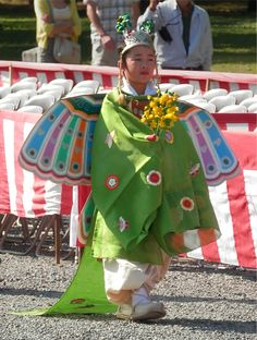 Japanese Bugaku dance costume for Kids. Bugaku is music and the dance that I approximately just handed down an ancient style to to date.