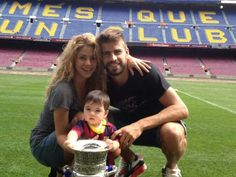 Pique and Shakira with baby Milan <3