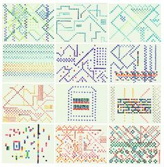 Embroidery studies. #pattern