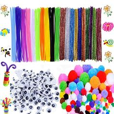 600 Pcs Craft Supplies Set - Pipe Cleaners Set Which Incl...