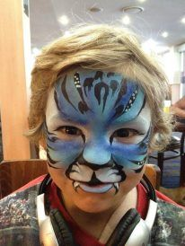 Even boys enjoy getting their face painted..