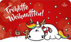 Pummeleinhorn Frühstücksbrettchen - X-Mas Weihnafften